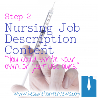 Create An Effective Nurse Resume In Five Easy Steps Resume Content